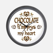 Chocolate Happy Wall Clock