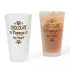 Chocolate Happy Drinking Glass