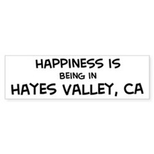 Hayes Valley - Happiness Bumper Bumper Sticker