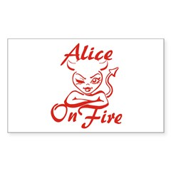 Alice On Fire Decal