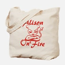 Alison On Fire Tote Bag