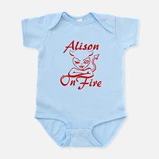Alison On Fire Infant Bodysuit