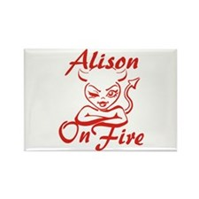 Alison On Fire Rectangle Magnet