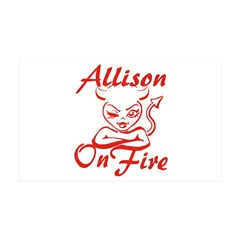 Allison On Fire Wall Decal