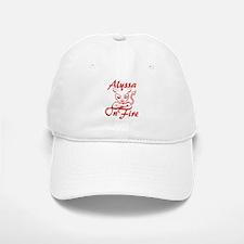Alyssa On Fire Baseball Baseball Cap