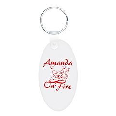 Amanda On Fire Keychains