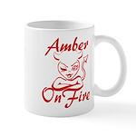 Amber On Fire Mug