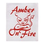 Amber On Fire Throw Blanket