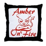 Amber On Fire Throw Pillow
