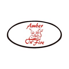 Amber On Fire Patches