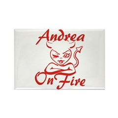 Andrea On Fire Rectangle Magnet