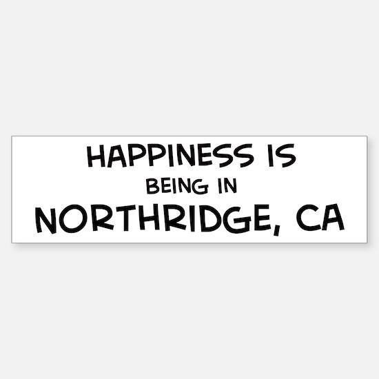 Northridge - Happiness Bumper Bumper Bumper Sticker