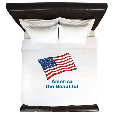 America the Beautiful. King Duvet