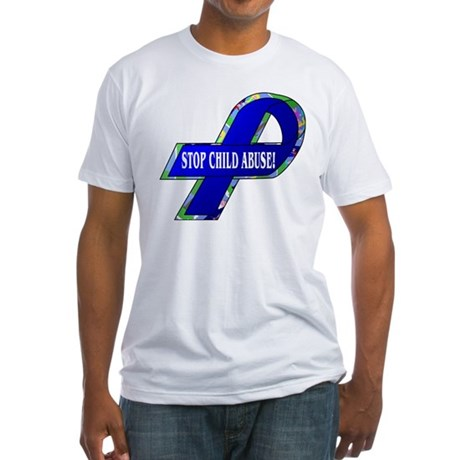 Child Abuse Awareness Fitted T-Shirt