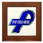 Child Abuse Awareness Framed Tile