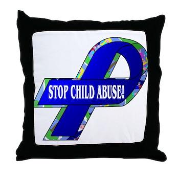 Child Abuse Awareness Throw Pillow