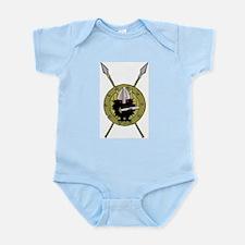 Hedgehog Viking on Shield Infant Bodysuit