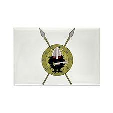 Hedgehog Viking on Shield Rectangle Magnet