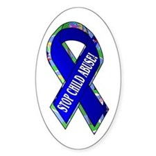 Child Abuse Awareness Oval Decal