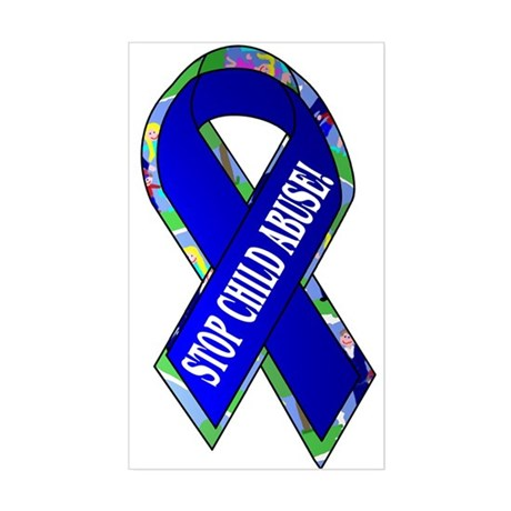 Child Abuse Awareness Rectangle Sticker
