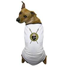 Hedgehog Viking on Shield Dog T-Shirt