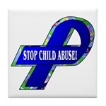 Child Abuse Awareness Tile Coaster