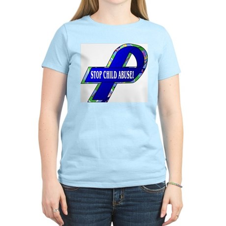 Child Abuse Awareness Women's Pink T-Shirt