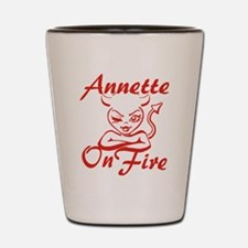 Annette On Fire Shot Glass