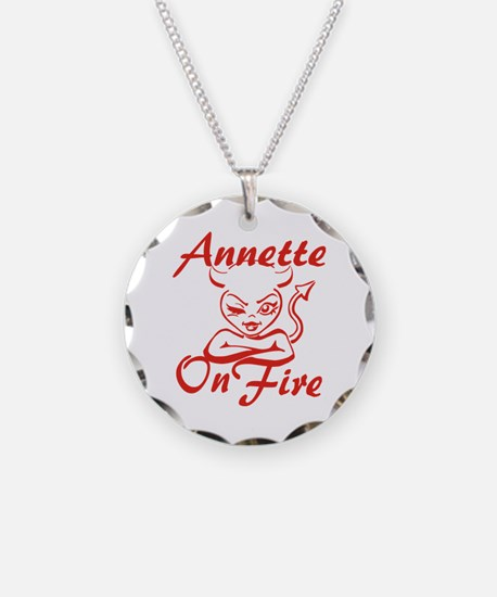 Annette On Fire Necklace