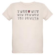 Twoo Wuv Foweva Organic Kids T-Shirt