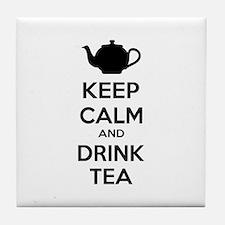Keep calm and drink tea Tile Coaster