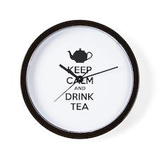Keep calm and drink tea Wall Clock