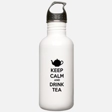 Keep calm and drink tea Water Bottle