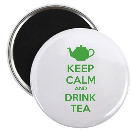 """Keep calm and drink tea 2.25"""" Magnet (10 pack)"""