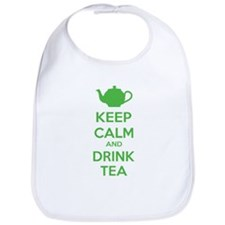 Keep calm and drink tea Bib