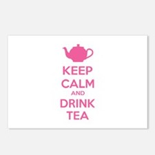 Keep calm and drink tea Postcards (Package of 8)
