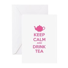 Keep calm and drink tea Greeting Cards (Pk of 10)