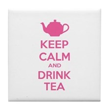 Keep calm and drink tea Tile Coaster
