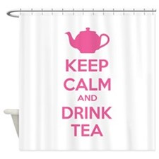 Keep calm and drink tea Shower Curtain