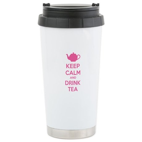 Keep calm and drink tea Stainless Steel Travel Mug