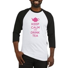 Keep calm and drink tea Baseball Jersey