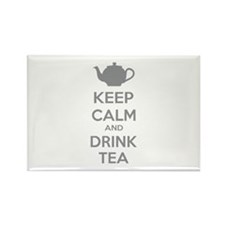 Keep calm and drink tea Rectangle Magnet (100 pack