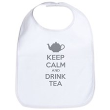 Keep calm and drink tea Bib