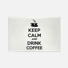 Keep calm and drink coffee Rectangle Magnet (100 p