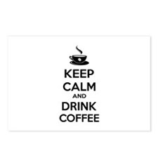 Keep calm and drink coffee Postcards (Package of 8