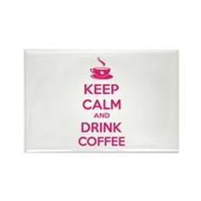 Keep calm and drink coffee Rectangle Magnet (10 pa