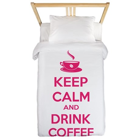 Keep calm and drink coffee Twin Duvet