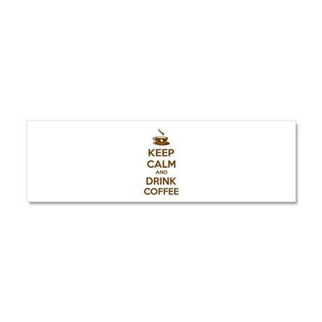 Keep calm and drink coffee Car Magnet 10 x 3