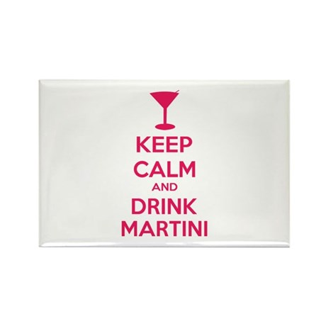 Keep calm and drink martini Rectangle Magnet (10 p