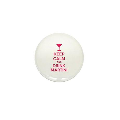 Keep calm and drink martini Mini Button
